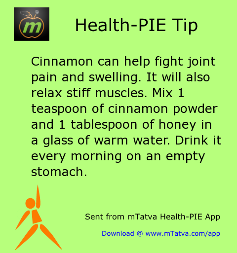 joint pain relief,honey,home remedy,cinnamon