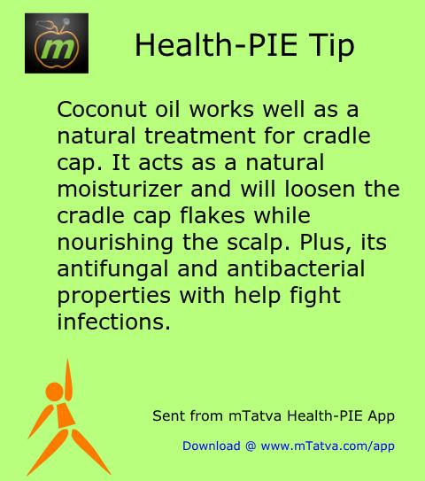 baby care,coconut,cradle cap