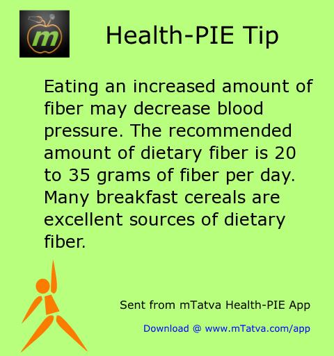 fiber,high blood pressure,healthy food habits