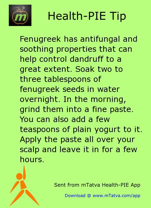 hair care,fenugreek (methi)