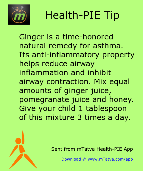 ginger,asthma,honey,home remedy,anti inflamatory