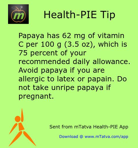 healthy food habits,pregnancy,nutrition facts,papaya,vitamin C,allergy