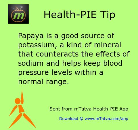 healthy food habits,high blood pressure,papaya,potassium
