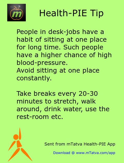 high blood pressure,exercise,sitting job