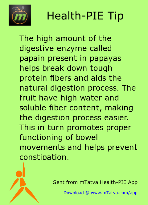 protein,healthy food habits,fiber,digestion and constipation,papaya