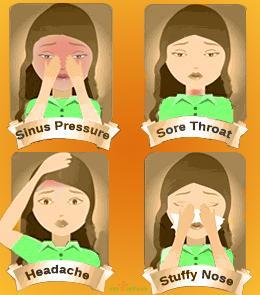 Frontal sinusitis symptoms